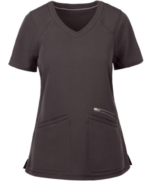 Stylish Scrub Tops For Women | 3-Pocket Raglan Sleeves V-Neck Scrub Tops Quality | Custom Scrub Sets Wholesale