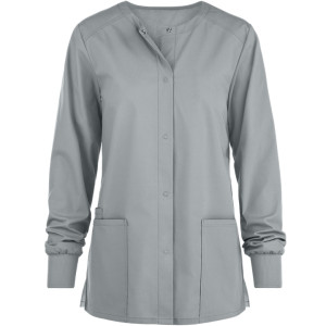 Women's Scrub Jackets With Pockets | 3-Pocket Snap Front Scrub Warm Up Jackets | Quality Scrub Jackets Custom