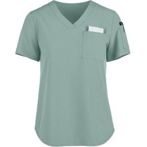 Modern Scrub Tops For Women | 2-Pocket V-Neck Tuck-In Scrub Tops | Wholesale Scrub Tops In Bulk