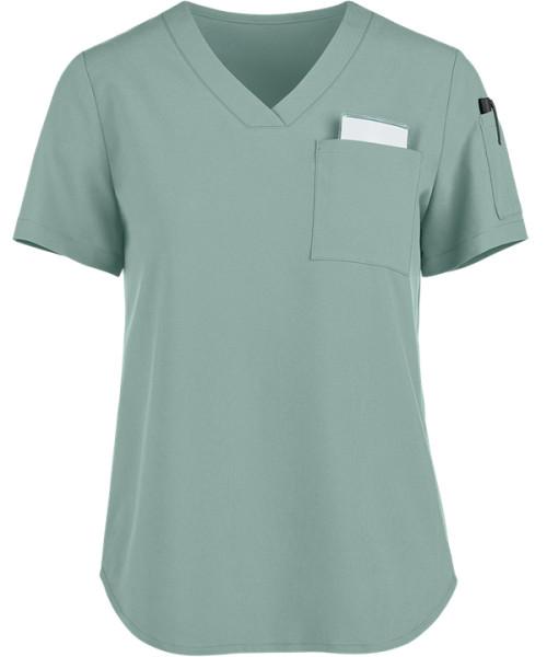 Modern Scrub Tops For Women   2-Pocket V-Neck Tuck-In Scrub Tops   Wholesale Scrub Tops In Bulk