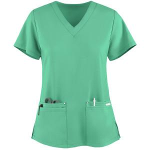 Women's Scrub Tops Stylish | 4-Pocket V-Neck 4 Way Stretch Scrub Tops | Wholesale Scrub Tops Manufacturer