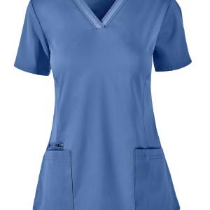 Quality Scrub Tops For Women | 3-Pocket V-Neck 4 way Stretch Scrub Tops Fashion | Wholesale Scrub Tops Discount