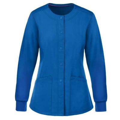 Women's Scrub Jackets Wholesale   4-Pocket Snap Front Scrub Jackets Quality   Scrub Jackets Stylish Wholesale