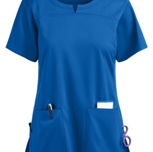 Fashion Scrub Tops Ladies | 4-Pocket Notch Neck Quality Scrub Tops | Wholesale Scrub Tops Functional