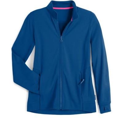 Women's Warm Up Scrub Jackets | 3-Pocket Long Sleeve Zip Front Scrub Jackets | Wholesale Scrub Jackets Affordable