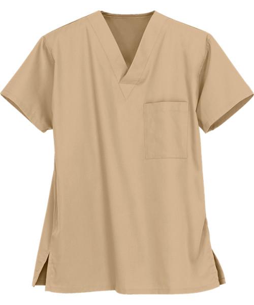 Unisex Scrub Tops   1-Pocket V-Neck 4 Way Stretch Scrub Tops Cotton   Wholesale Scrub Tops Manufacturer