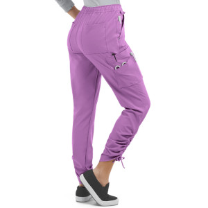 Women's Scrub Pants Joggers | 9-Pocket Ruched Leg Drawstring Elastic Scrub Jogger Pants | Wholesale Scrub Pants Stylish