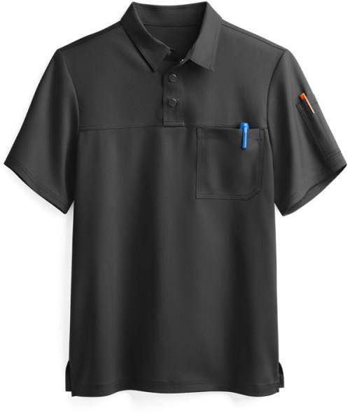 Men's Scrub Tops Breathable   2-Pocket Short Sleeve Polo Scrub Tops Quality   Wholesale Scrub Tops Custom Logo