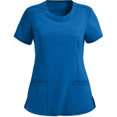 Women's Fashion Scrub Tops | Solid Color 3-Pocket Round Neck Scrub Tops | Wholesale Quality Scrub Tops Supplier