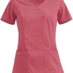 Stylish Scrub Tops For Women | 3-Pocket Crisscross V-Neck 4 Way Stretch Scrub Tops | Wholesale Scrub Tops Affordable