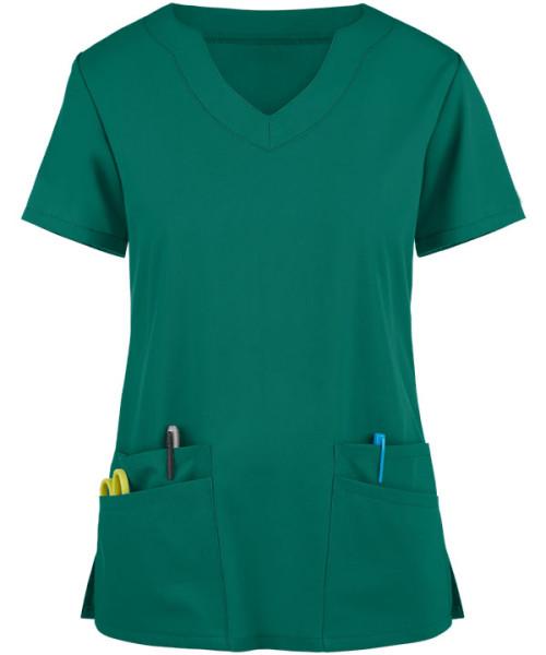 Stylish Scrub Tops For Women   4-Pocket Scallop Neck Solid Color Scrub Tops Fashion   Wholesale Scrub Tops Affordable