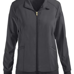 Scrub Jackets Womens | 2-Pocket Zip Front Knit Panel Warm Up Scrub Jackets | Scrub Jackets With Logo Custom