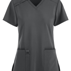 Women's Stylish Scrub Tops | Solid Color 2-Pocket V-Neck Scrub Tops Quality | Wholesale Scrub Tops With Logo Manufacturer