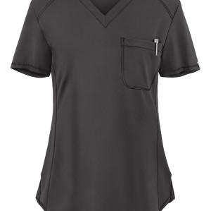 Women's Scrub Tops Modern | Solid Color 1-Pocket V-Neck 4 Way Stretch Scrub Tops | Wholesale Scrub tops Supplier