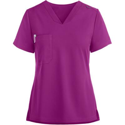 Women's Scrub Tops | Solid Color 1-Pocket V-Neck Scrub Tops | Wholesale 4 Way Stretch Scrub Tops Supplier