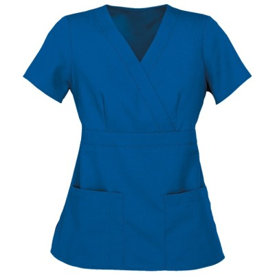 Women's Modern Fit Scrub Tops | 3-Pocket Mock Wrap Solid Color Scrub Tops | Wholesale Quality Scrub Tops Manufacturer