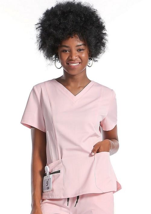Scrub Uniforms With Pocket   Simple Style Scrubs   Pink Scrubs With Pockets   Scrubs Uniform Customization