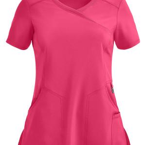 Scrub tops for women | 4-Pocket Mock Wrap Scrub Tops Stretch | Wholesale Quality Scrub Tops Manufacturer