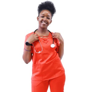 Women's Hospital Scrub Sets | 9-Pocket Lace Up V-Neck Scrub Tops&Jogger Pants | Wholesale Scrub Uniform Vendor
