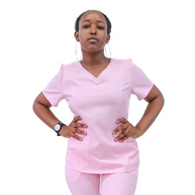 Nurses Scrub Uniform Sets | Solid Short Sleeve Drawstring Scrub Setrs | Stretch Ultra Soft Medical Uniform Wholesale