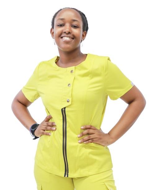 Medical Scrub Sets For Women   Short Sleeve Stylish Zipper Scrub Sets With Jogger Pants   Wholesale Scrub Sets In Bulk