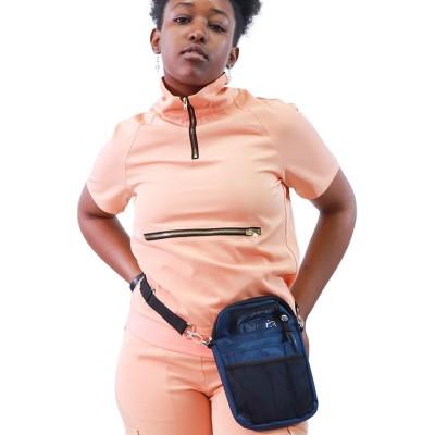 Tight Scrub Sets For Women | Short Sleeve Zipper Turtle Neck Scrub Tops&Jogger Pants | Wholesale Medical Scrub Uniforms