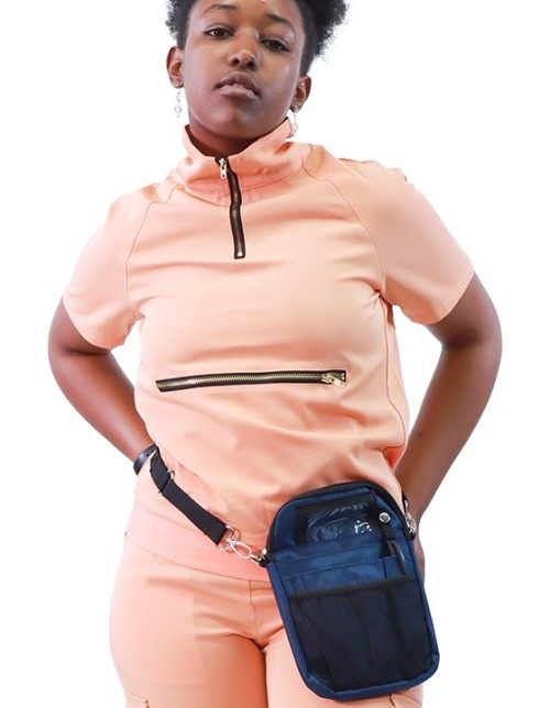 Tight Scrub Sets For Women   Short Sleeve Zipper Turtle Neck Scrub Tops&Jogger Pants   Wholesale Medical Scrub Uniforms