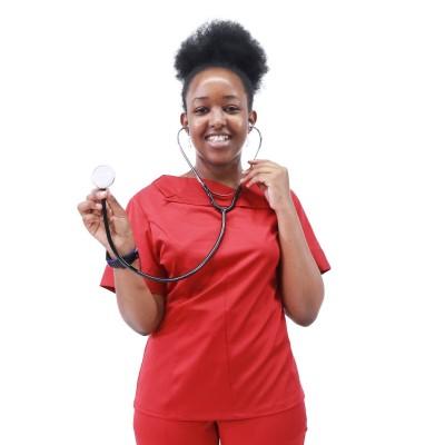 Women's scrubs uniforms | 4 Way Stretch Stylish Short Sleeve Scrub Uniforms | Scrubs Manufacturer In China