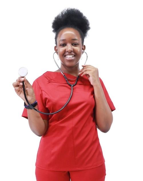 Women's scrubs uniforms   4 Way Stretch Stylish Short Sleeve Scrub Uniforms   Scrubs Manufacturer In China