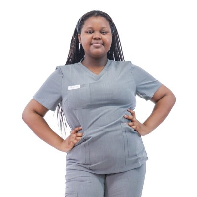 Women's Plus Size Scrub Sets | V-neck Short Sleeve Solid 4 Way Stretch Scrub Sets | Wholesale Scrubs Sets Vendor
