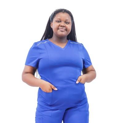 Plus Size Stretch Scrub Sets | Loose Short Sleeve V-neck Scrub Nurse Uniforms | Scrub Uniforms In Bulk