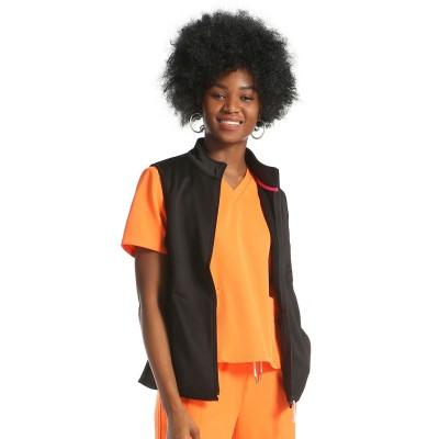 Nursing Uniform Scrub Sets With Waistcoat | Orange Short Sleeve Drawstring Scrub Sets | Wholesale scrub uniforms for nurses
