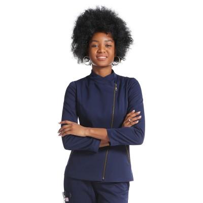 New Design Scrubs Uniforms Sets | Zip Up Long Sleeve Slim Scrub Top&Loose Pants | Quality Medical Uniforms Wholesale