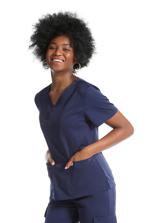Stylish Women's Scrub Uniforms Discount | 10 Pockets Stretch Scrubs uniforms sets | Quality Scrub Uniforms Wholesale
