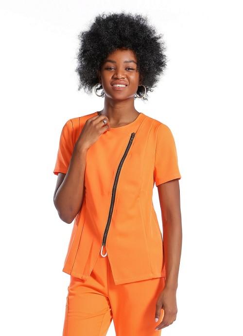 Nursing Uniform Scrub Sets For Women | Solid Short Sleeve Zip Scrub Nurse Uniforms Slim Fit | Wholesale Scrub Uniforms