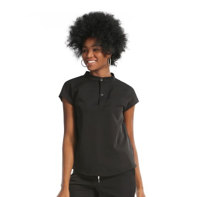 Women's Scrub Uniform Sets | Mandarin Collar Cap Sleeve Scrub Tops&Jogger Pants Ladies | Wholesale Scrub Uniforms Vendor