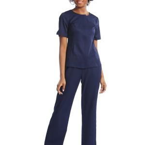 Scrub Uniforms For Nurses | Invisibly Zip Up Solid Scrub Uniforms Tops | Loose Scrub Uniforms Pants | Custom Scrub Uniforms