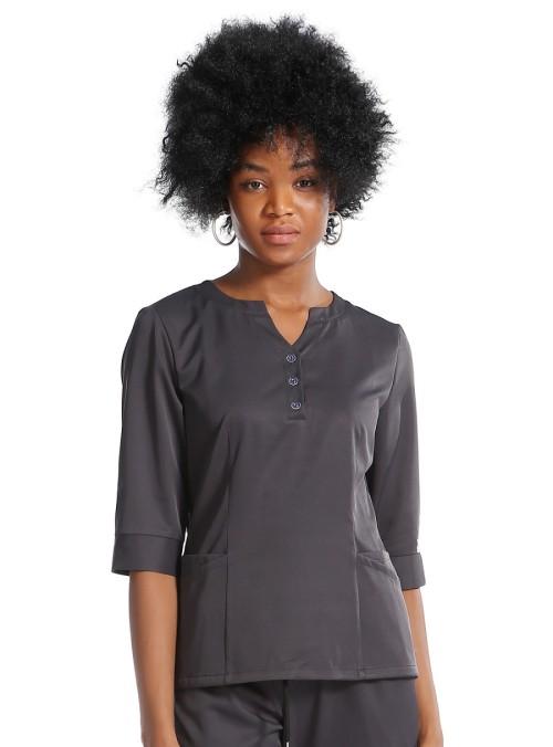 Women's Scrub Uniforms   V-neck Button Half Placket Scrub Uniforms Tops   Breathable Jogger Pants   Scrub Uniforms Wholesale