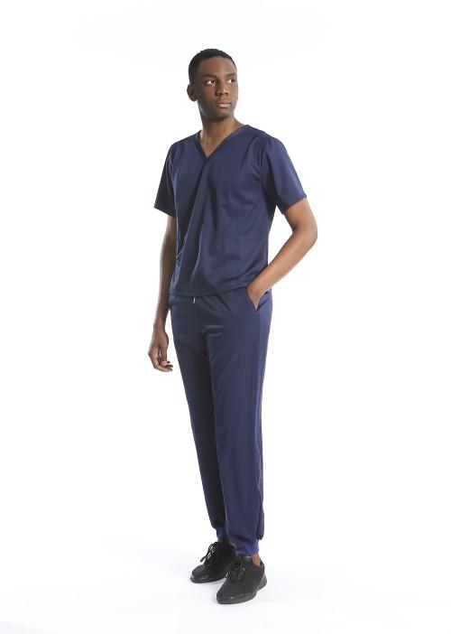 Men's Scrub Uniforms | Loose V-neck Scrub Tops | Jogger Pants Brethable | Custom Scrub Uniforms Wholesale