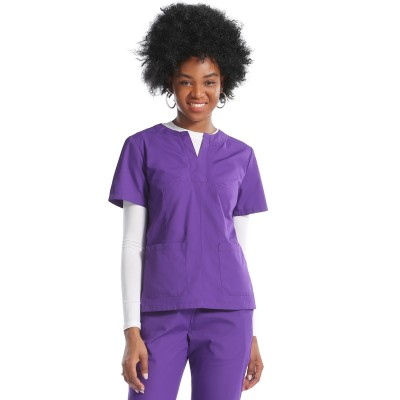 Women Scrub Uniforms For Nurses | Patch Short Sleeve Scrubs Top | Ankle-tied Jogger Pants | Comfortable Scrub Uniforms Wholesale