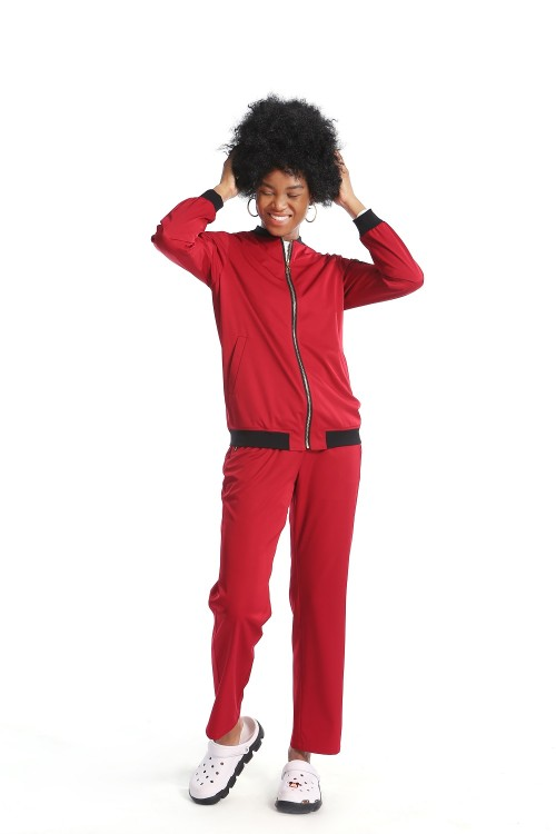 Scrub Jackets For Women   Warm-up Zip Front Scrub Jackets Set   Breathable Strench Medical Jackets Uniforms Wholesale