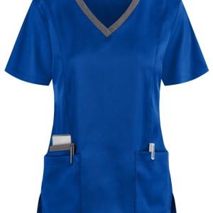 Women's Scrub Tops Quality | 3-Pocket 4 Way Stretch V-Neck Scrub Tops | Wholesale Scrub Tops With Logo