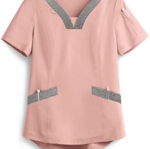 Scrub Tops For Women | 4-Pocket Feminine Curved V-Neck Scrub Tops Breathable | Wholesale Scrub Tops With Logo Supplier