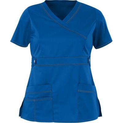 Modern Scrub Tops For Women | 3-Pocket Mock Wrap Scrub Tops Stretch | Wholesale Scrub Tops With Logo Manufacturer