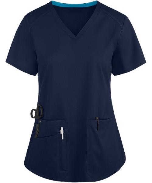 Women's Stylish Scrub Tops | 3-Pocket V Neck Scrub Tops Stretch | Wholesale Quality Scrub Tops Manufacturer