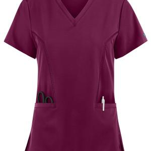 Scrub Tops For Women | 2-Pocket Double V-Neck 4 Way Stretch Scrub Tops | Wholesale Stylish Scrub Tops Manufacturer