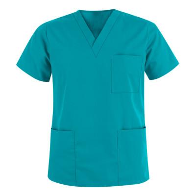 Unisex Scrub Tops Quality   3-Pocket V-Neck Scrub Tops Cotton   Custom&Wholesale Scrub Tops With Logo Affordable