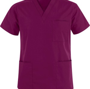 Unisex Scrub Tops Quality | 3-Pocket V-Neck Scrub Tops Cotton | Custom&Wholesale Scrub Tops With Logo Affordable