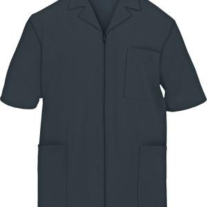 Scrub Jackets For Men | 3-Pocket Zip Front Short Sleeve Scrub Jacket Cotton | Wholesale Scrub Jackets Supplier