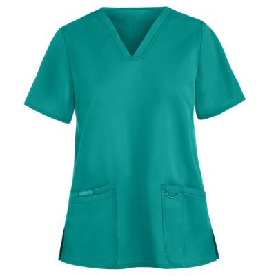 Women's Scrub Tops Stylish   3-Pocket V-Neck Function Scrub Tops Cotton   Wholesale Scrub Tops Affordable Supplier